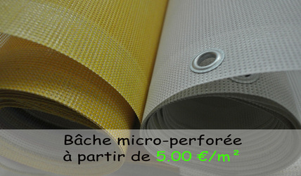 bache microperforée
